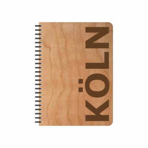 Öko Notizblock KÖLN Kirschholz-Einband & FSC® Papier | Echtholz