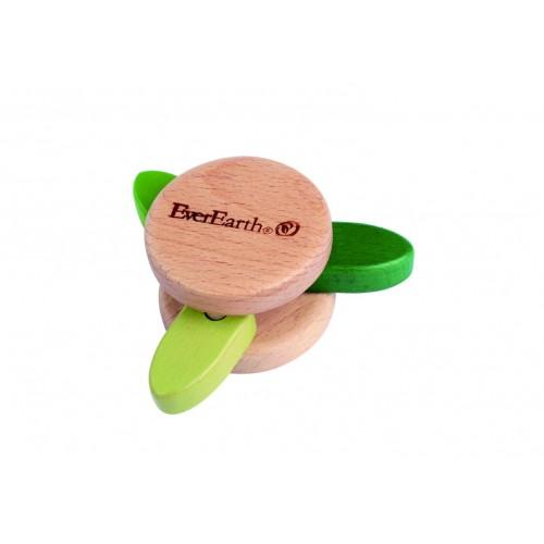 EverEarth® Öko Holz Rassel »Klapperspielzeug Blatt«