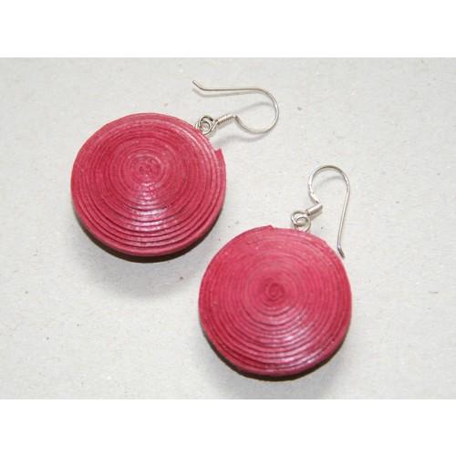 Rote Scheiben-Ohrringe aus Öko-Papier | Sundara Paper Art