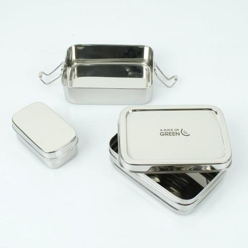 Panna - 2lagige Edelstahl Lunchbox & Mini Brotdose   A Slice of Green