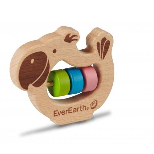 EverEarth Papagei Baby Greifring - Öko Holzspielzeug