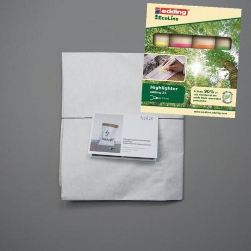 DIY kolor Papiersack mit Textmarker edding 24 Eco Line