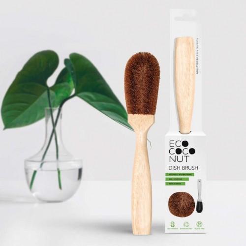 EcoCoconut plastikfreie Spülbürste aus Kokosfaser