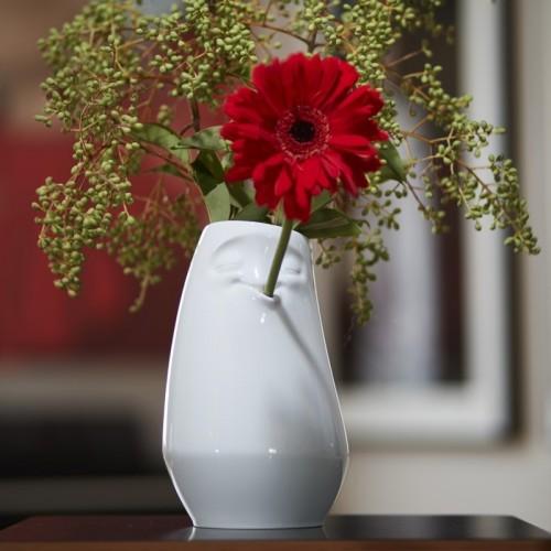 Porzellanvase Entspannt, weiß | Fiftyeight Products