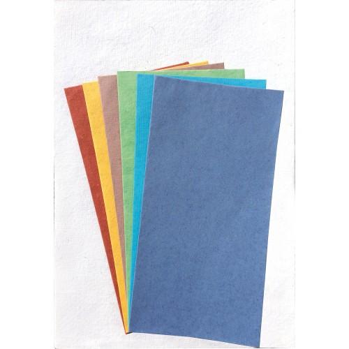 Schreibpapier-Set Regenbogen – handgeschöpftes Briefpapier
