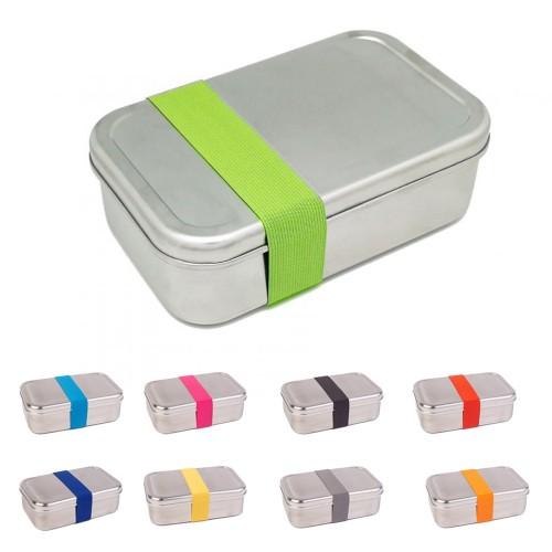Premium Lunchbox Edelstahl mit farbigem Band | Tindobo