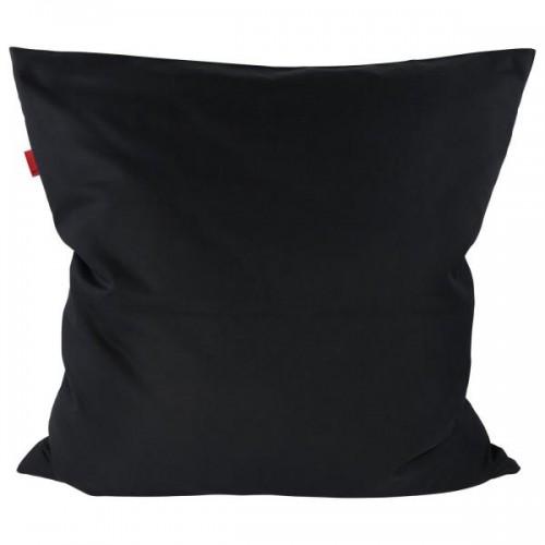 ia io Pure Black Bio Kissenbezug in Schwarz 80x80 cm
