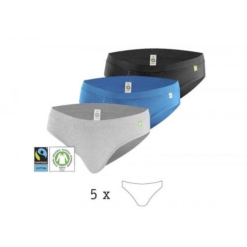 5er Pack Herrenslip QuickSlip, Bio-Baumwolle | kleiderhelden