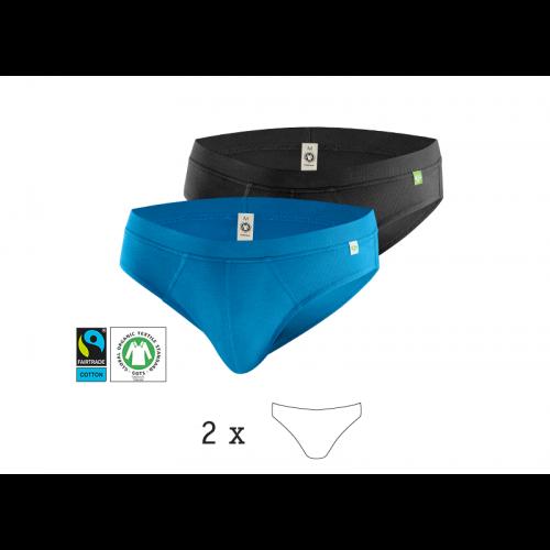 QuickSlip Herrenslip 2er Pack, Bio-Baumwolle | kleiderhelden