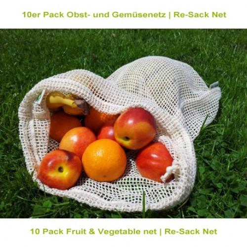 10er Pack Obst- und Gemüsenetz | Re-Sack Net