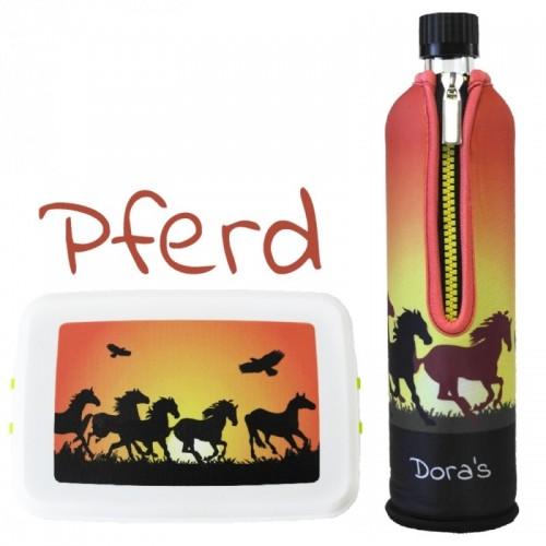 Dora's Reitsport-Set »Pferd« Trinkflasche & Brotdose
