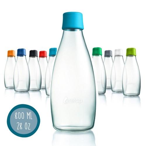 Öko Design Glas Trinkflasche Retap 08