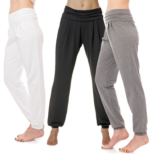 Damen Yoga Hose, Sarouel-Stil, Bio-Baumwolle | bill bill & bill