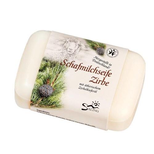 Saling Naturkosmetik Schafmilchseife Zirbe, BDIH zertifiziert