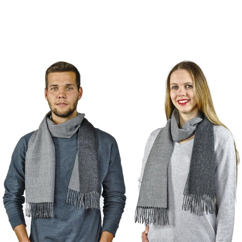 Unisex Schal Oslo 100% Baby Alpaka zweifarbig | AlpacaOne
