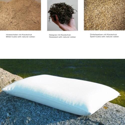 Kopfkissen mit Naturfüllung, Sondergröße 50x70cm | speltex