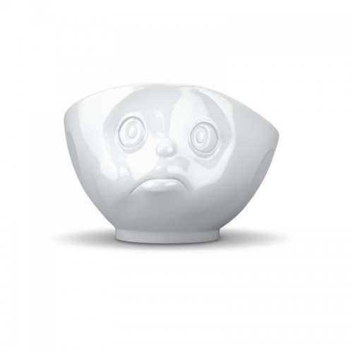 Porzellan Schale / Tasse schmollend, weiß