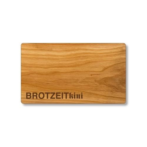 BROTZEITkini Schneidebrett aus Kirschholz, graviert | Echtholz
