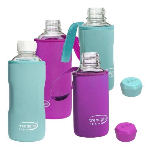Neopren Schutzhülle für BLUE OCEAN Glasflasche | Trendglas Jena