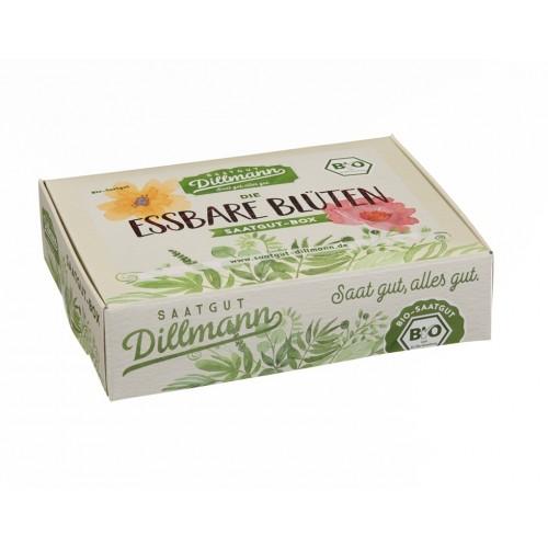 Essbare Blüten Saatgut-Box S Bio im Karton | Saatgut Dillmann