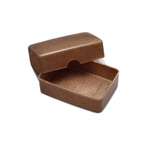 Öko Seifendose aus Flüssigholz, braun
