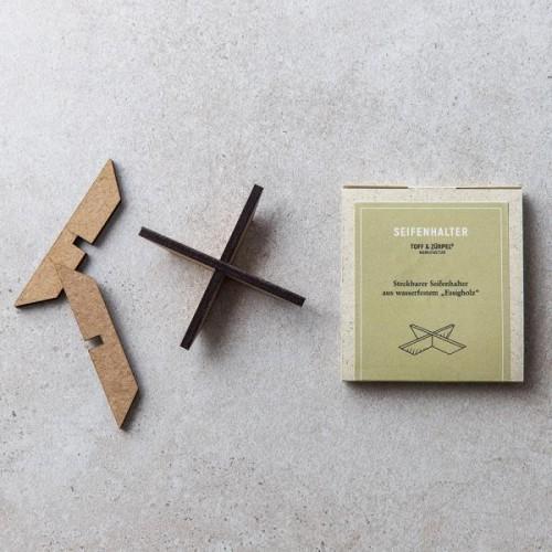 Toff & Zürpel Seifenhalter aus Essigholz