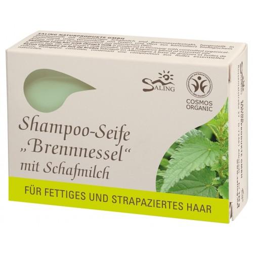 Saling Shampoo-Seife Brennnessel Schafmilchseife