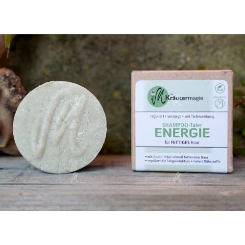Shampoo-Taler Energie vegan Haarseife für fettiges Haar | Kräutermagie