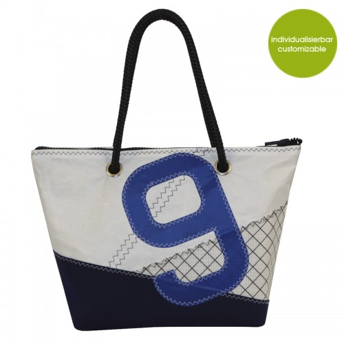 Shopper & Citybag »Sail Boat 9« aus Segeltuch | Marron Rouge