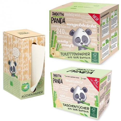 Smooth Panda Kennenlernpaket Bambus Hygienepapier