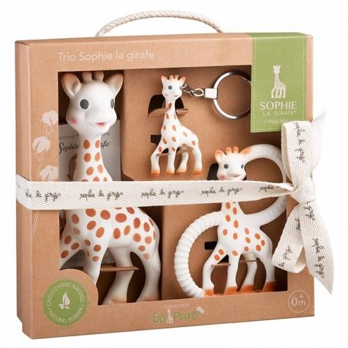Set Trio So'Pure Sophie la girafe - Öko Geschenk zur Geburt | Vulli