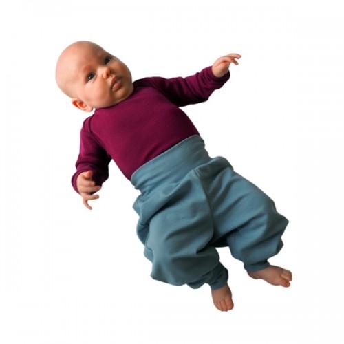 Leichte Baby Sweathose graublau Bio-Baumwolle | bingabonga