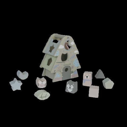 EverEarth Sortierspiel Tannenbaum Pastell - Öko Lernspielzeug