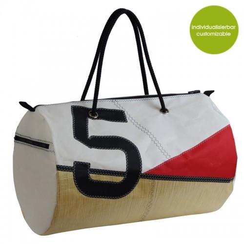 »Sail Boat5« Upcycling Sporttasche & Reisetasche | Marron