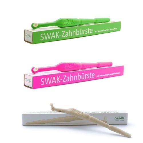 SWAK Bio Zahnbürste mit austauschbarem Miswak Bürstenkopf
