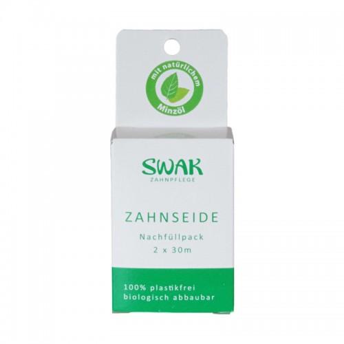 """SWAK echte Zahnseide Nachfüllpack 2 x 30m """"Plastikfrei"""""""