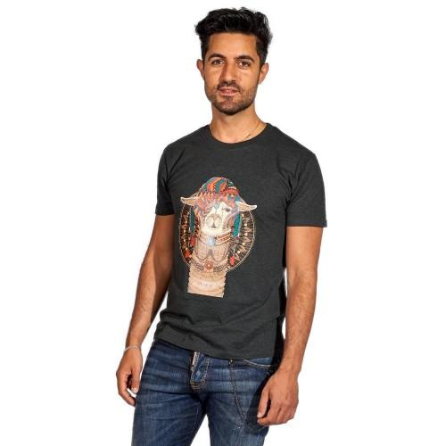 AlpacaOne Herren T-Shirt Phoenix, Bio Baumwolle, Alpaka Print