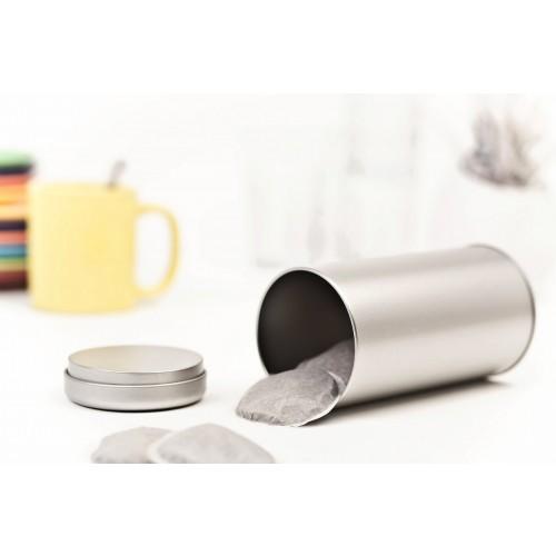 Öko Teedose mit Stülpdeckel aus Weißblech » Tindobo