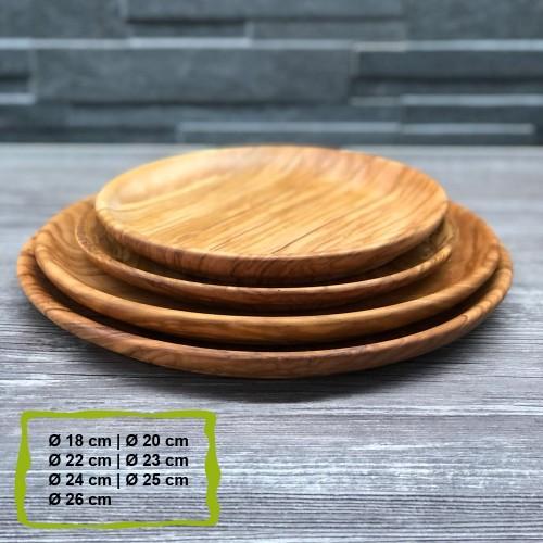 Teller aus Olivenholz, verschiedene Größen | D.O.M.