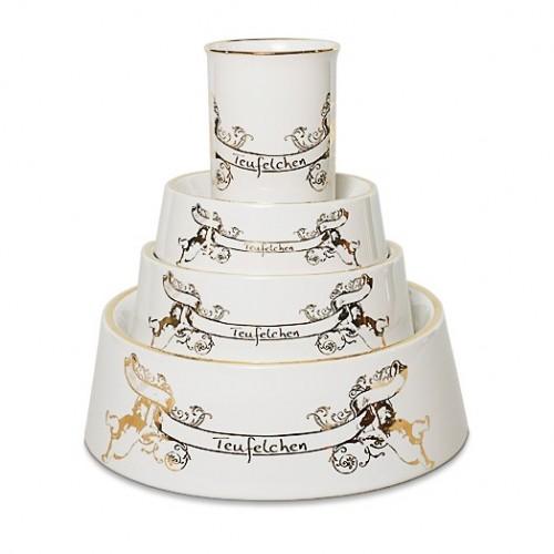 Luxus Hundenapf und Tasse aus Porzellan