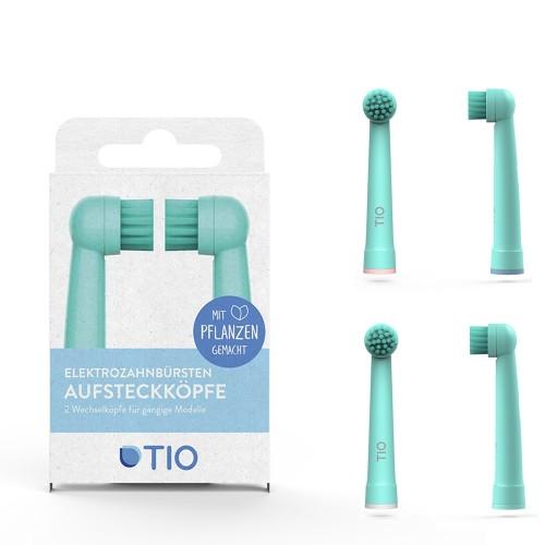 Tiomatik Aufsteckkopf für elektrische Zahnbürsten 2er Pack