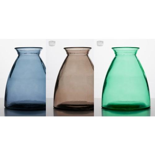 Vintage Tischvasen aus Recycling Glas, 4er Set | VSanmiguel