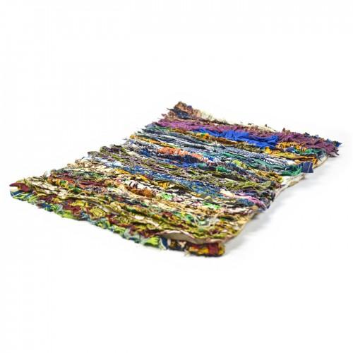 Upcycling Teppich 2 aus Stoffresten von reditum