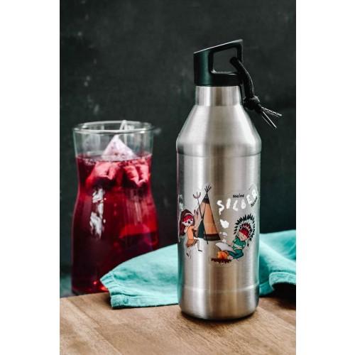 Kinder Edelstahl Trinkflasche 'Silberbüchse' » Tindobo