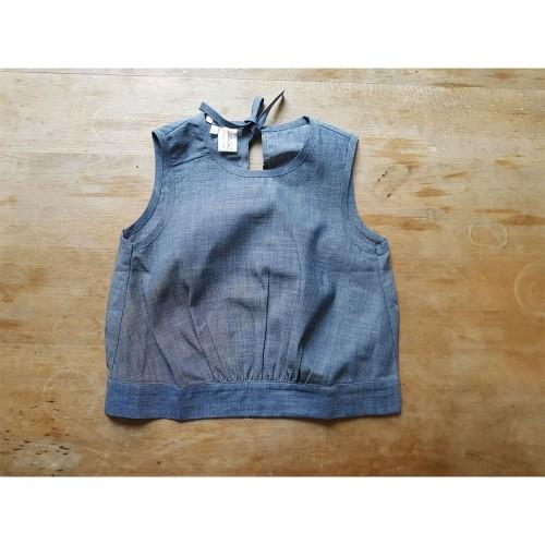 Lockeres Bio Jeans-Tanktop für Kinder » Ulalü