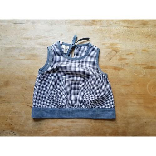 Blusenshirt blaukariert/jeans, Bio-Baumwolle » Ulalü