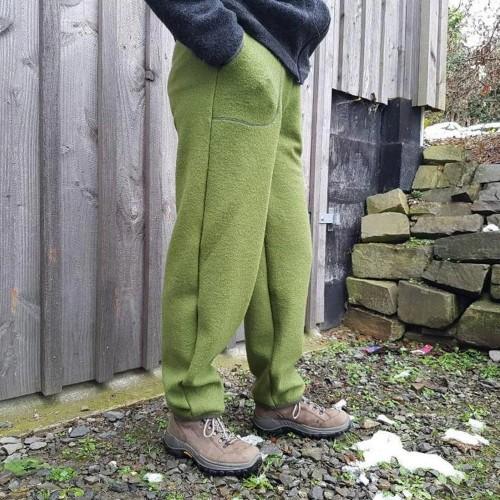 Outdoorhose Walkhose olivgrün, Wolle kbT » Ulalü