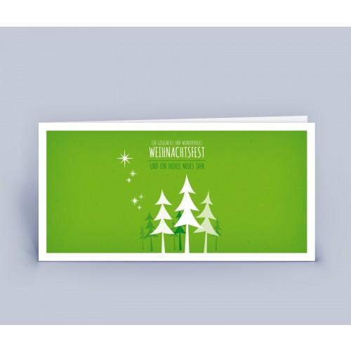 Weihnachtskarte grün moderner Weihnachtsbaum   eco-cards