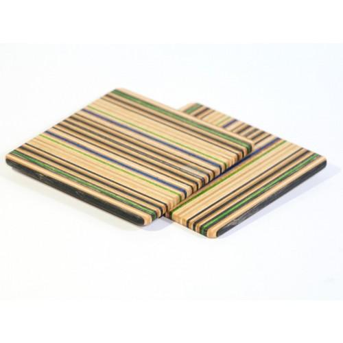 Holz-Untersetzer aus recycelten Skateboards | Restwert