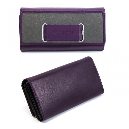 Leder Portemonnaie violett/grau | ad:acta